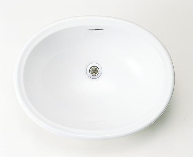 【後払い手数料無料】 陶磁器洗面器 Mオーバル IB4-E274210:イーヅカ ブランカ-木材・建築資材・設備
