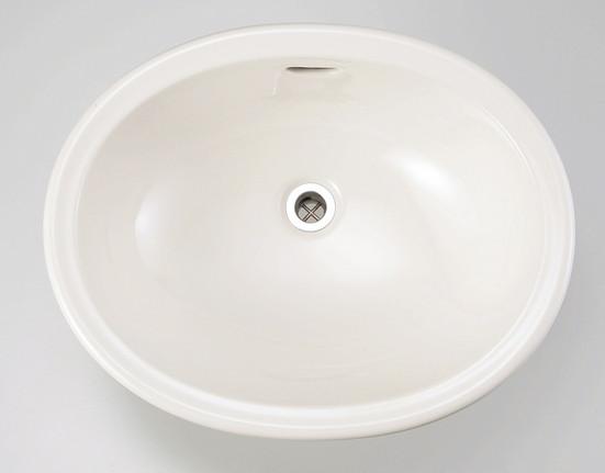 【在庫あり/即出荷可】 スロウカラーズ リネン IB4-E350040:イーヅカ Mオーバル 陶磁器洗面器-木材・建築資材・設備