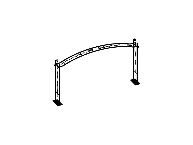 ガーデンアーチ Type02 標準サイズBM NA3-AR02BM