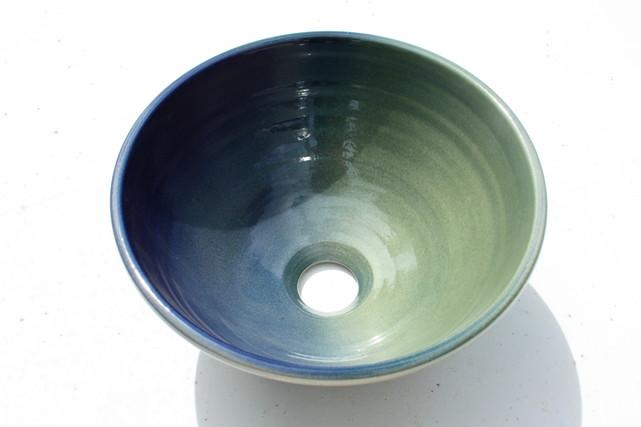 陶器製手洗鉢 φ240 置型 グラデーション SX4-ROYAL15
