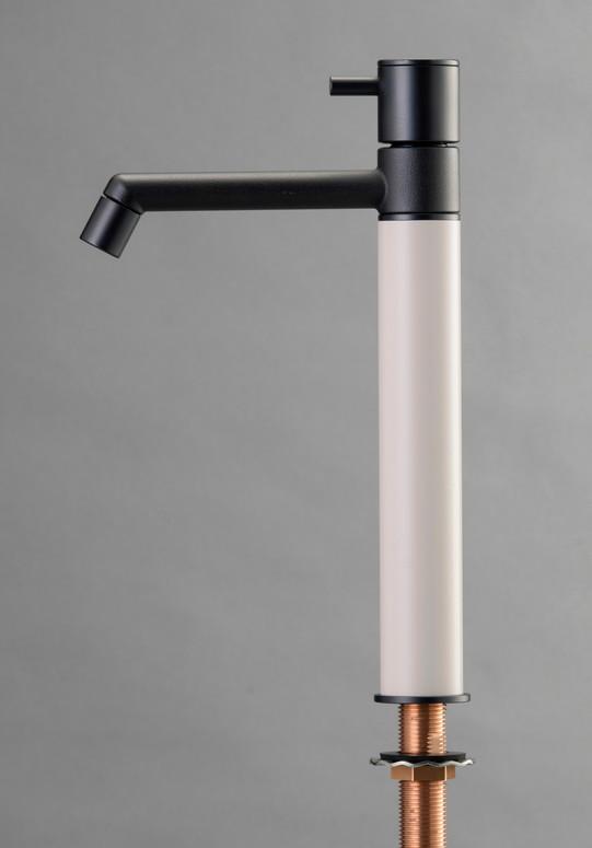 デザイン水栓 マニル ブラックめっき ロング バニラ TK4-1LKV