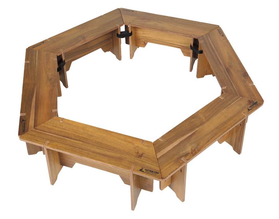 キャプテンスタッグ CSクラシックス ヘキサグリルテーブルセット 137 UP-1038