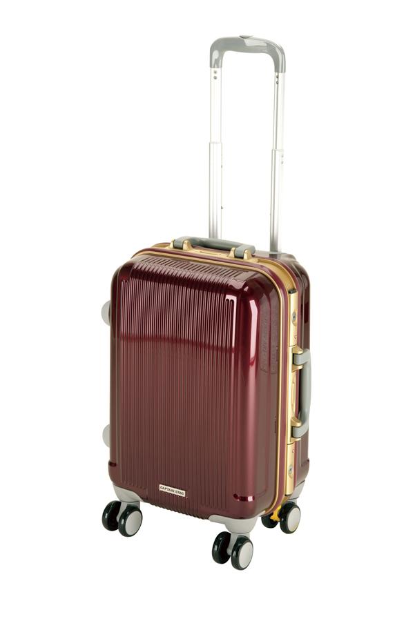 キャプテンスタッグ グレル トラベルスーツケース(TSAロック付ハードフレームタイプ)(S)(ワインレッド) UV-0006