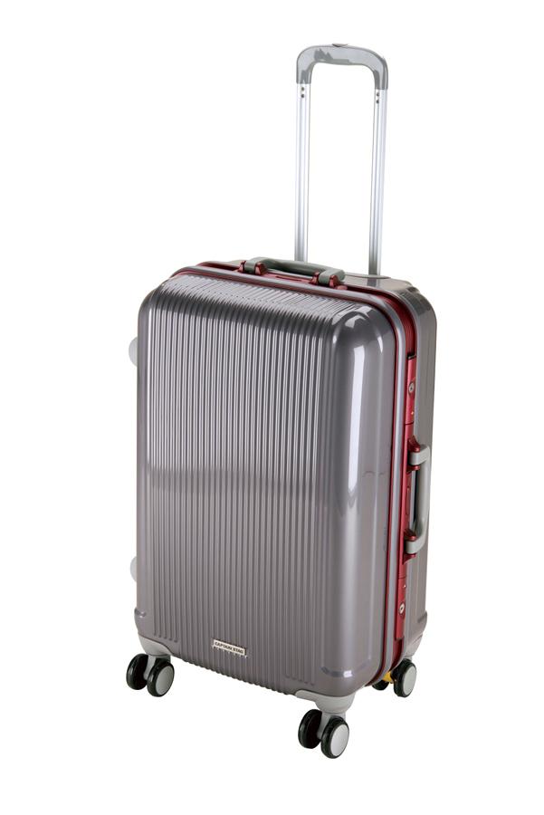 キャプテンスタッグ グレル トラベルスーツケース(TSAロック付ハードフレームタイプ)(M)(スチールグレー) UV-0008