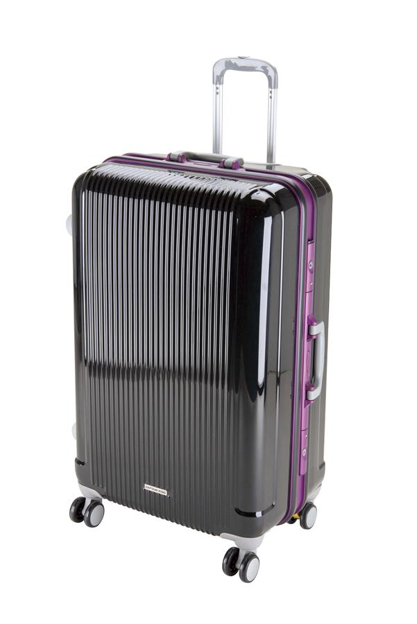 キャプテンスタッグ グレル トラベルスーツケース(TSAロック付ハードフレームタイプ)(L)(ブラック) UV-0010