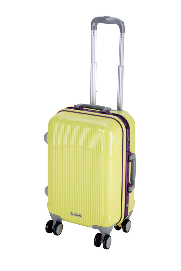 キャプテンスタッグ グレル トラベルスーツケース(TSAロック付ハードフレームタイプ)(S)(アップルグリーン) UV-0015