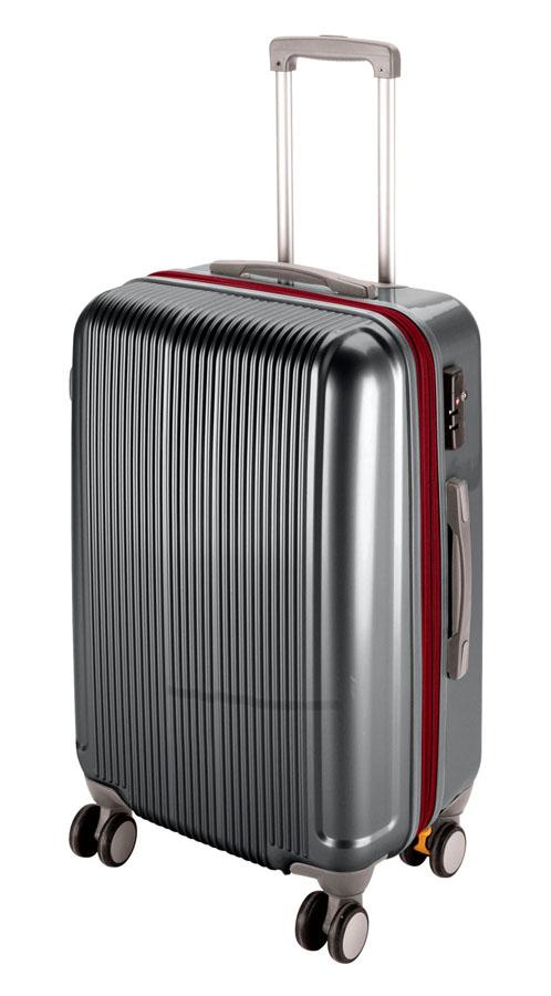 キャプテンスタッグ グレル トラベルスーツケース(TSAロック付ダブルファスナータイプ)(L)(スチールグレー) UV-0028