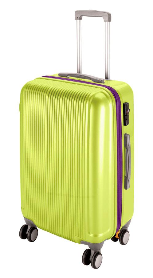 キャプテンスタッグ グレル トラベルスーツケース(TSAロック付ダブルファスナータイプ)(L)(アップルグリーン) UV-0034