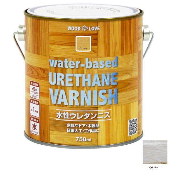 においが少なく塗りやすい水性塗料 ニッペ 水性ウレタンニス water-based 750ml VARNISH クリヤー URETHANE メーカー在庫限り品 買い取り