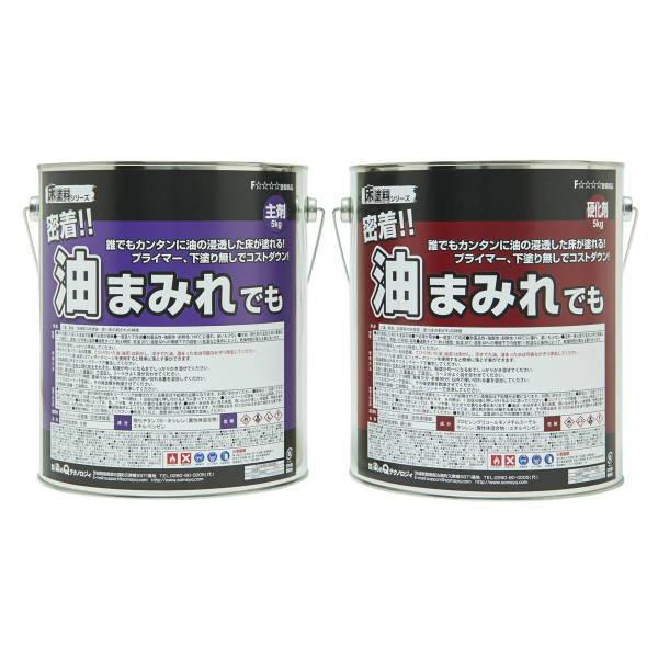 染めQテクノロジー 床塗料 密着!!油まみれでも 10kgセット