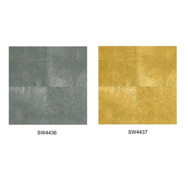 シンコール 壁紙(箔・メタリック) SW4436/SW4437 巾93cm×7.4m巻 本売り