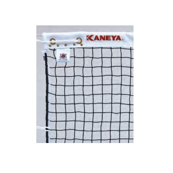 カネヤ 硬式テニスネット ロープタイプ 上部コード使用 K-1304Z 黒 幅1.07m×長12.65m