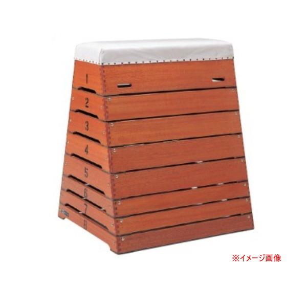ダンノ とび箱中型8段(高校・中学校向) (頭部巾40×下部巾90)×奥行100×高さ120cm D-4501
