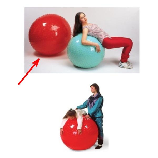 ダンノ 触覚ボール100 Φ100cm レッド D-5459