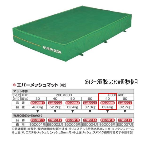 エバニュー エバーメッシュマット EGD006 200×400cm 40cm厚