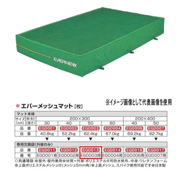 エバニュー エバーメッシュマット EGD003/EGD351用専用交換袋(外被のみ) EGD013