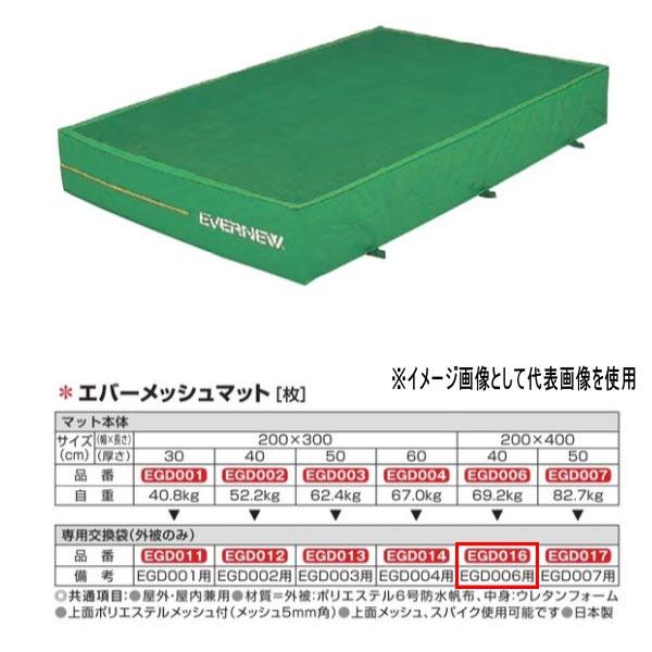 エバニュー エバーメッシュマット EGD006用専用交換袋(外被のみ) EGD016
