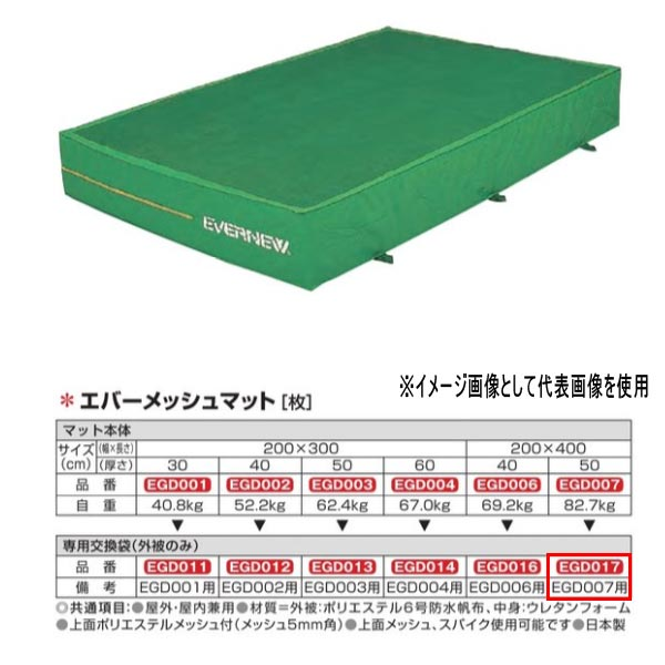 エバニュー エバーメッシュマット EGD007/EGD353用専用交換袋(外被のみ) EGD017