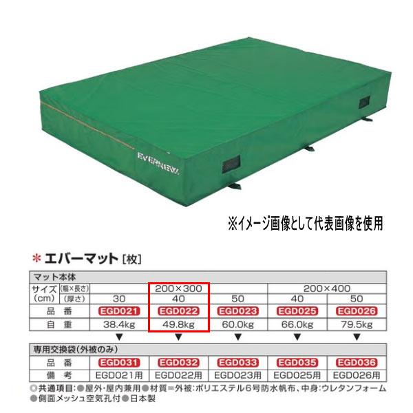 エバニュー エバーマット 防水帆布仕様 EGD022 200×300cm 40cm厚