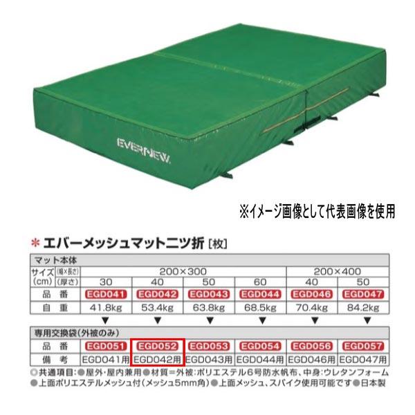エバニュー エバーメッシュマット二ツ折 EGD042用専用交換袋(外被のみ) EGD052