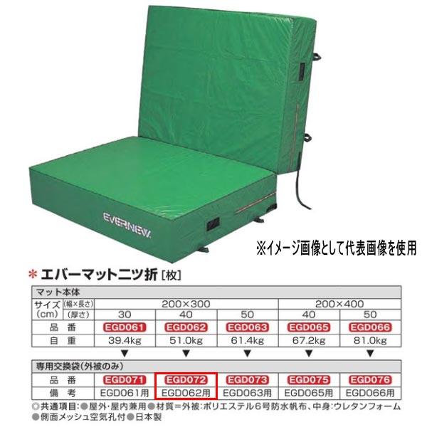 エバニュー エバーマット二ツ折 防水帆布仕様 EGD062専用交換袋(外被のみ) EGD072