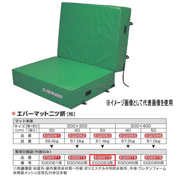 エバニュー エバーマット二ツ折 防水帆布仕様 EGD063専用交換袋(外被のみ) EGD073