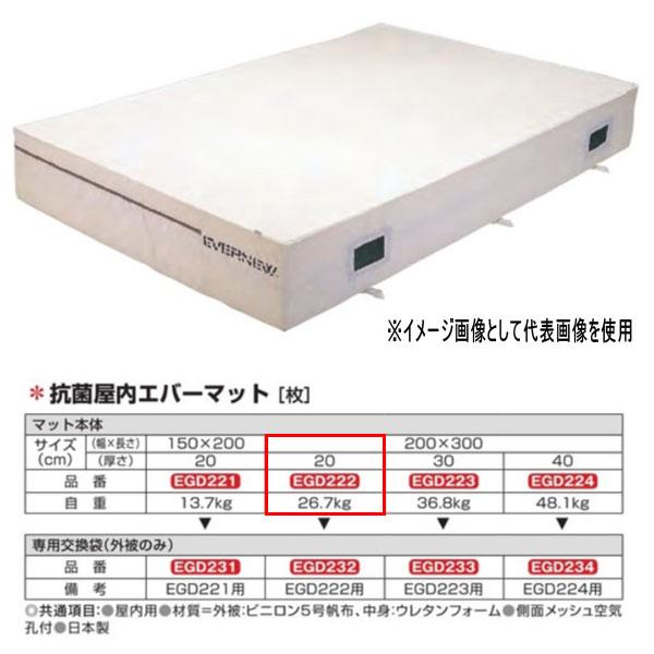 エバニュー 抗菌 屋内 エバーマット EGD222 200×300cm 20cm厚