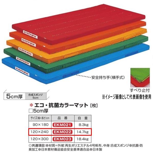 エバニュー エコ・抗菌カラーマット EKM022 幅120×長240cm 厚5cm