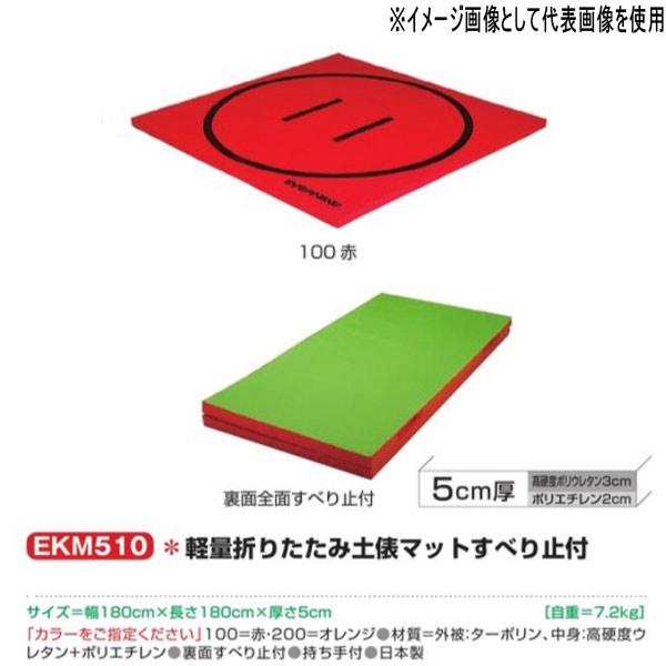 エバニュー 軽量折りたたみ土俵マットすべり止付 EKM510 幅180×長180cm 厚5cm
