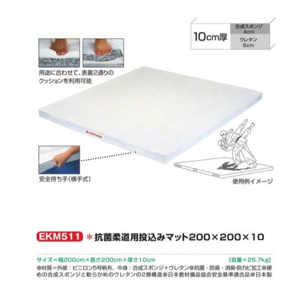 エバニュー 抗菌柔道用投込みマット200×200×10 EKM511