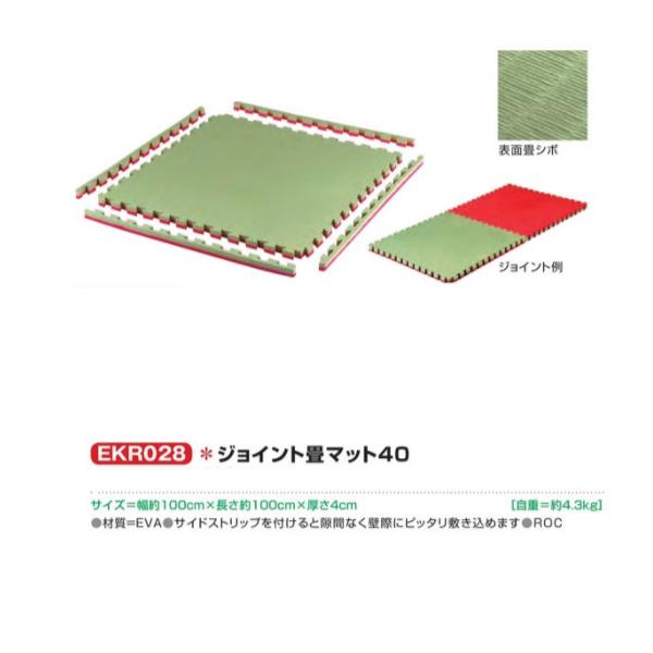 エバニュー ジョイント畳マット40 EKR028 幅100×長さ100cm 厚さ4cm