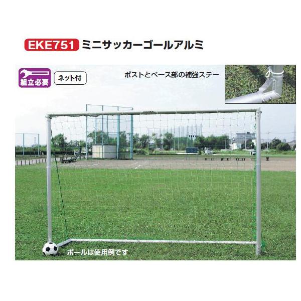 エバニュー ミニサッカーゴールアルミ 幅300×高さ200×奥行93cm EKE751 2台1組