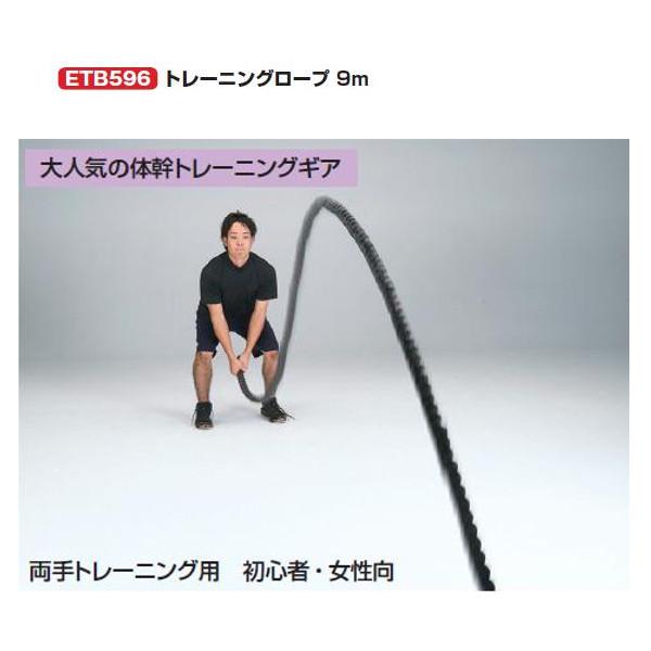 エバニュー パフォーマンス 両手トレーニング用 初心者・女性向 トレーニングロープ9m 直径3.8cm×長さ9m ETB596 1本