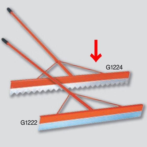 ニシスポーツ グラウンドレーキ スチール製 900mm 波型 G1224 (W)900×(L)1500×(T)120mm