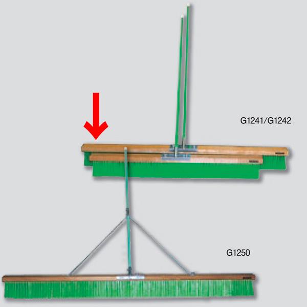 ニシスポーツ コートブラシ スタンダード ナイロン1500mm G1242 (W)1500×(L)1350×(T)120mm