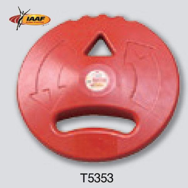 ニシスポーツ IAAF キッズDISC ゴム製 1000g レッド T5353 (φ)200mm