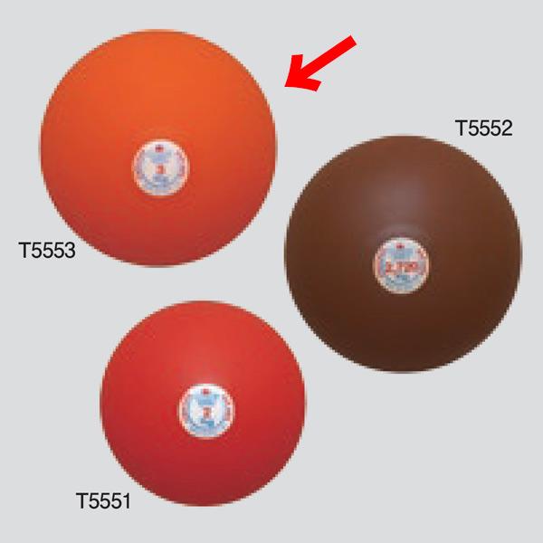 ニシスポーツ 砲丸 室内用 ソフトゴム製 3.0kg T5553 (φ)115mm