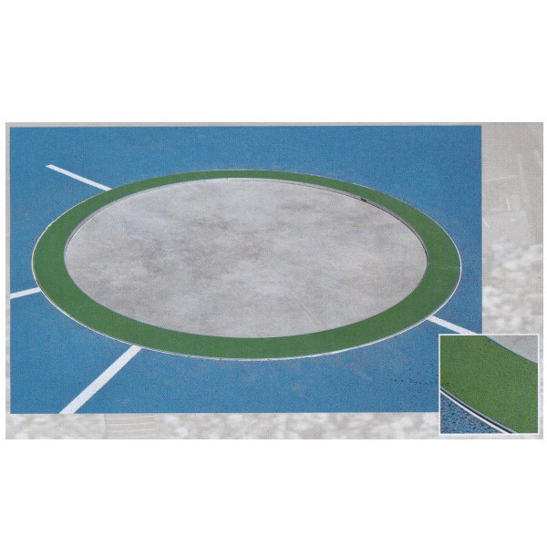 ニシスポーツ 円盤投、ハンマー投兼用サークル NF2004D (外径)Φ2495×(内径)Φ2135×(H)20mm