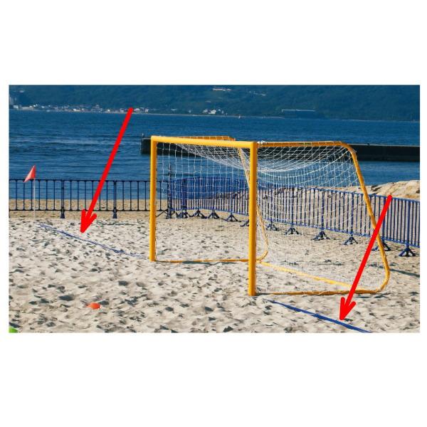 三和体育 ビーチサッカーラインテープ 幅100mm×厚さ1.2mm S-0126