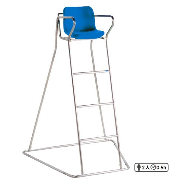 三和体育 テニス審判台 150B SUS 幅125cm×奥行120cm×高さ185cm(座面高さ150cm) S-0248
