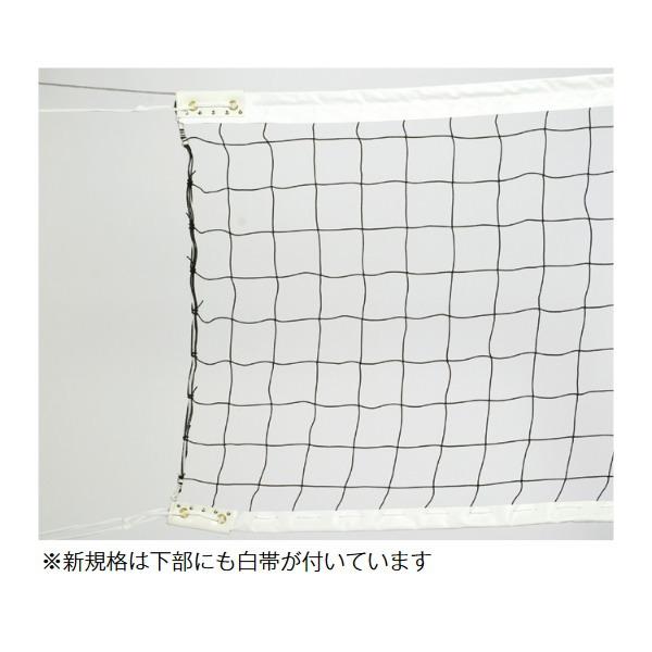 三和体育 一般用バレーネット/6人制(新規格) ポリエチレン440T/60 本 スチール/ 片ワッカ S-3718
