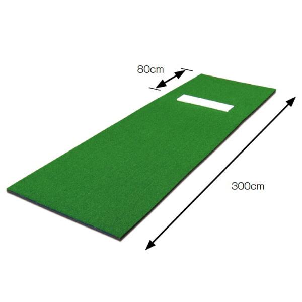 三和体育 ピッチング練習用人工芝マット 幅90cm×長さ300cm×2.1cm S-8090