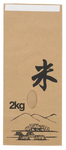 米袋 330211 Eタイプ ふるさと 2kg 140×70×340 200枚
