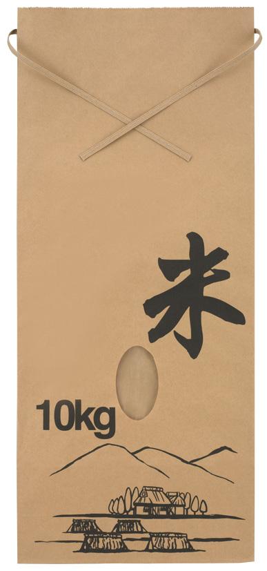 米袋 331011 Eタイプ ふるさと 10kg 240×100×560 200枚