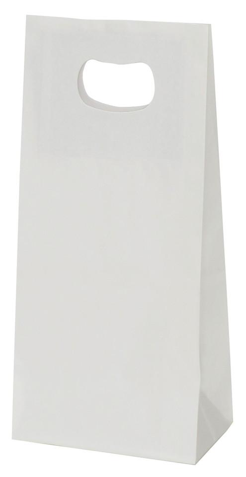 手提げ袋 349012 グリップタイプ角底袋 No.2 ホワイト 160×90×230 1000枚