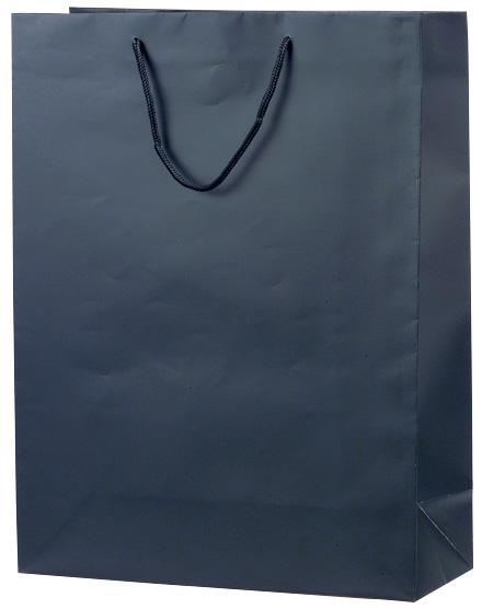 レギュラータイプに表面マットPP加工 高級感のある 手提げ袋 永遠の定番モデル ショッピングバッグ 383859 マット 50枚 LL ブラック 380×150×500 5%OFF