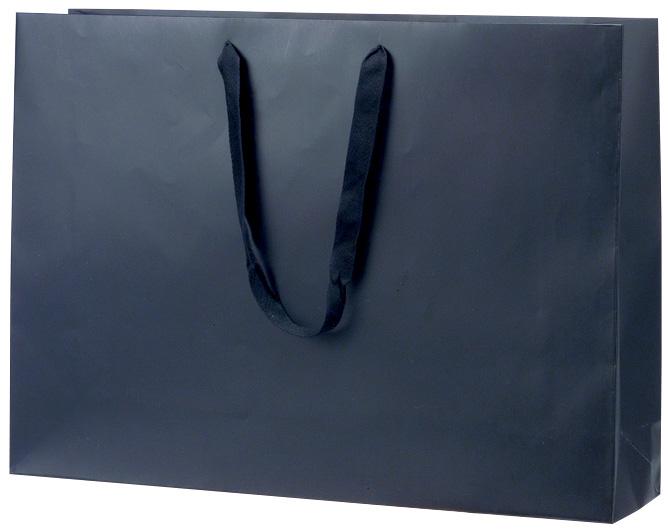 高級感のある 手提げ袋 ショッピングバッグ 383860 マット・ブラック Y-55 550×130×400 50枚