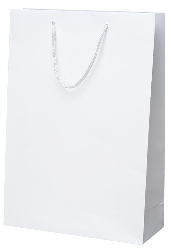 高級 手提げ袋 383877 マット・ホワイト L 320×110×450 50枚