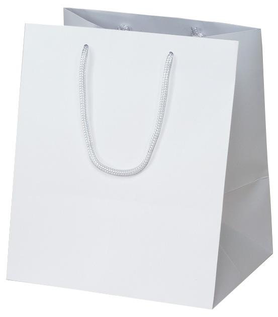 高級 手提げ袋 383885 マット・ホワイト W-300 300×250×350 50枚
