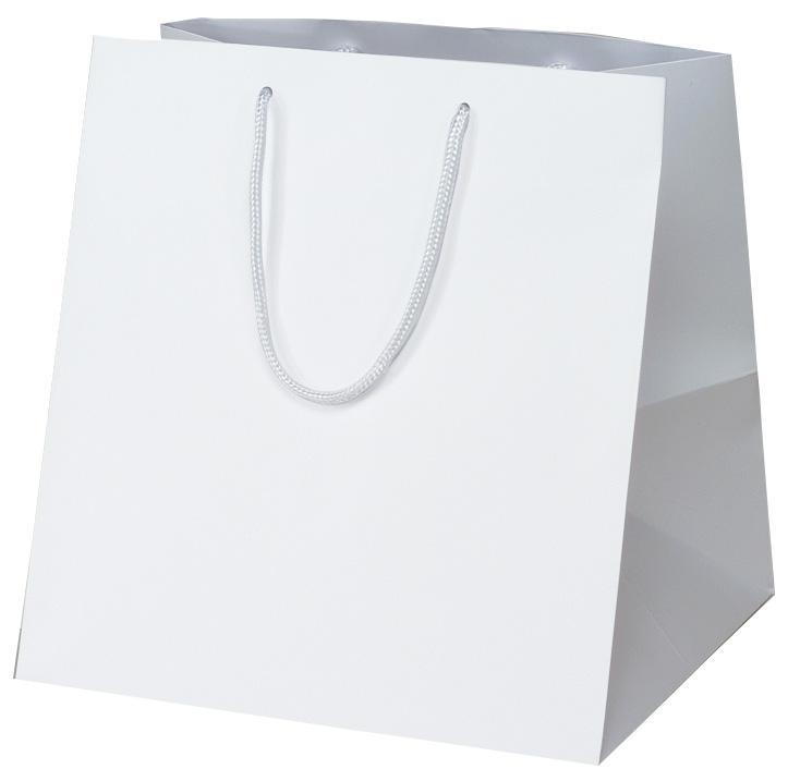 高級 手提げ袋 383887 マット・ホワイト W-350 350×320×370 50枚